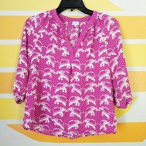 Crown & Ivy Boho Elephant Print Tunic